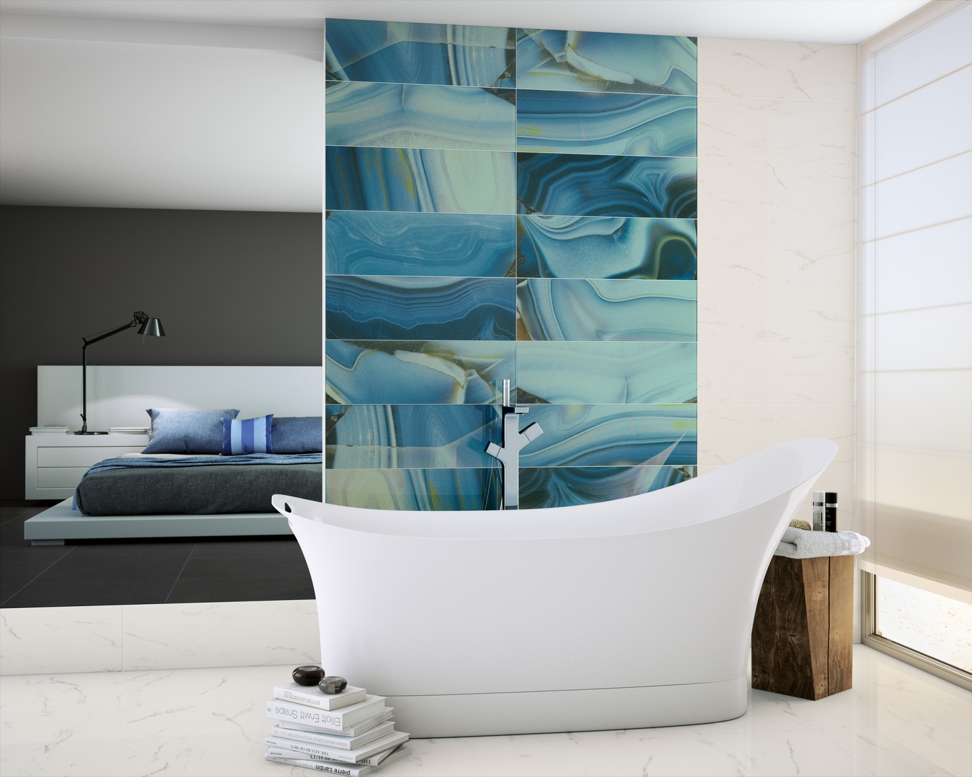 Aura Agate Glass tiles