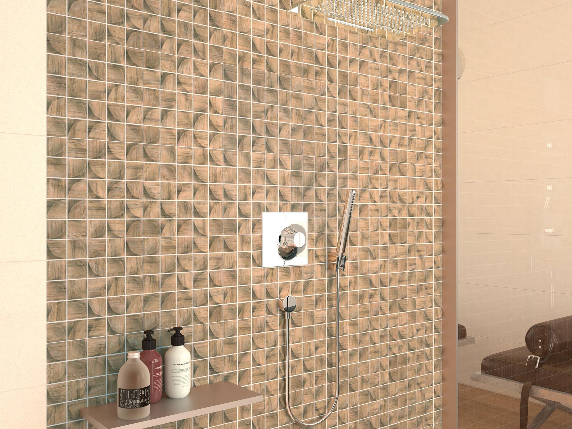 3D light Forest ceramic tiles