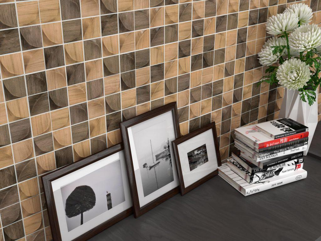 3D Mix Forest Ceramic Tiles