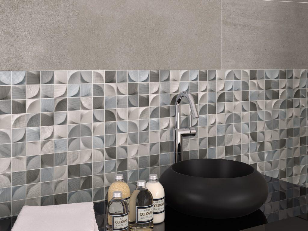 3d Tissue dark Ceramic Tiles